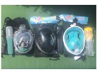 3 x Snorkel Masks