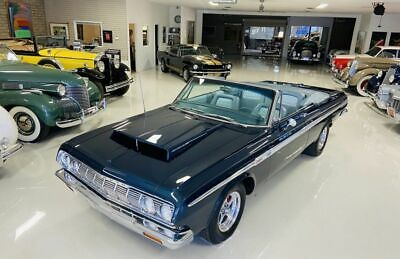 1964 Plymouth Fury  1964 Plymouth Sport Fury  45800 Miles Blue Cabriolet  Manual