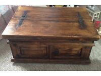Solid wood coffee table with storage - open to offers
