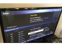 "43"" Samsung flatscreen tv"