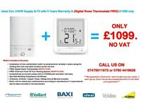 Ideal Exclusive 24 / 28 KW BOILER INSTALLATION Supply & Fit & FREE Digital Room Stat.