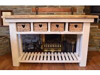 Chunky and Rustic Classic Farmhouse Style Sideboard/Console Table