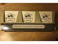 3 pot herb gift set