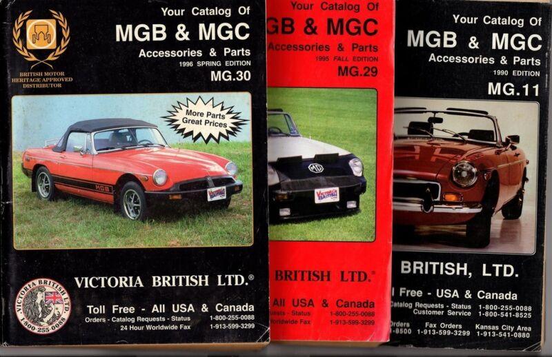 1990 1995 1996 MGB & MGC Catalogs Victoria British Magazines