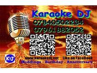 Karaoke DJ Hire Basildon to Romford and area. Wedding, Birthday, Anniversary.