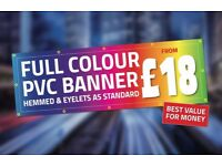 Banners from only £18! Same day banner printing! Offer for a limited time only!