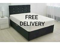 New divan LUXURY BEDS * Made in the UK * FREE DELIVERY AND HEADBOARD