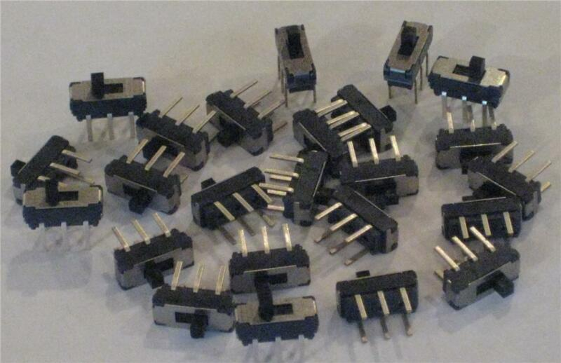 APEM MICRO-MINI MS22 SLIDE SWITCH ON-ON DPDT  (50 pcs)