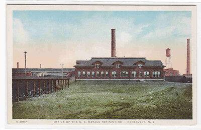 Us Metals Refining Co Office Roosevelt New Jersey 1920C Postcard