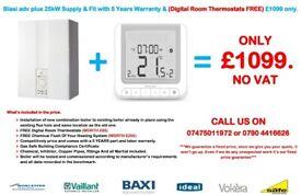 BIASI ADVANCE C 25 / 30 KW BOILER INSTALLATION Supply & Fit & FREE Digital Room Stat.