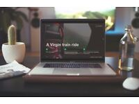 WEBSITE DESIGN • Wordpress - £350 • Bespoke 2 Page Site - £600