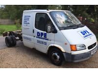 1997 ford transit 190 lwb chassis D/cab plus spare 2.5 banana engine