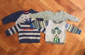 6-9 months boys clothes bundle. Hat, onesies, jumpers, shirts and trousers