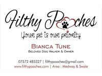Filthy Pooches Dog Walking Services - Medway & Swale Kent