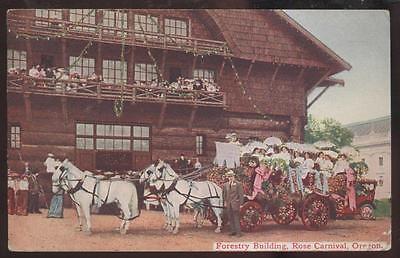 Postcard PORTLAND Oregon/OR  Rose Carnival Parade Float view 1909?