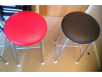 stool multi colour top purple green red black Ness Made in England seating chair bar dining