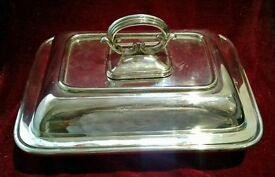 Silver plated serving tureen with lid Harrison brothers and howsen No 9249