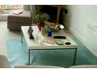 White coffee table table