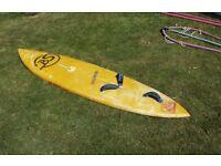 Custom Slalom board 280cm around 110litre with 5.2 rig and bag