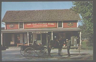 Postcard BIRD-IN-HAND Pennsylvania/PA  Amish Old Village Country Store 1950's