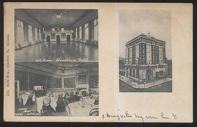 Postcard Clearfield Pennsylvania Pa  Dimeling Hotel Tri View 1906