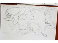 Senior male life drawing model with drawing experience in Liverpool area