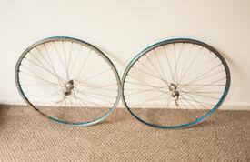 Rare Shimano Ultegra Hubs on Mavic 700c Road 36H Classic Bicycle Wheelset 7/8/9/10 speed £25 ONO