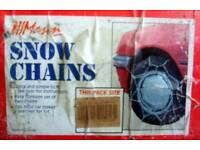 """Snow Chains TK 335 Fits tyres RIM 13,14 & 15"""" size: 135 - 205 see chart"""