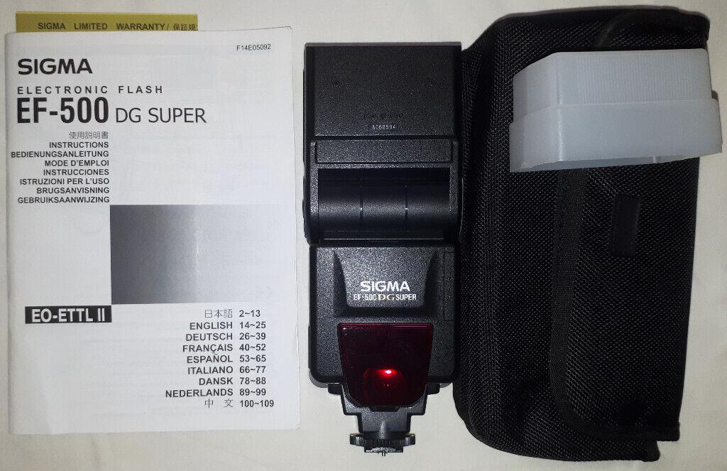 Sigma EF 500 DG Super Flash for Canon SLR Cameras