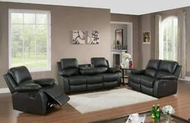 LEATHER RECLINER SOFA, BARGAIN PRICES, PREMIUM QUALITY READ DESCRIPTION