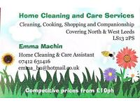 Home Cleaning, General Help and Elderly care