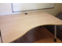 professional office double wave desk adjustable height