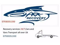 Recovery services 24/7,Cars and Vans Transport all over Uk 07930351330