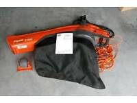 FLYMO 1500+ Garden Vac / Leaf Blower with extra Flymo Wheel included