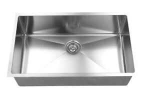 Single Bowl - Hand Crafted - Small Radius Stainless Steel Sink  IMPORT COST DIRECT $150