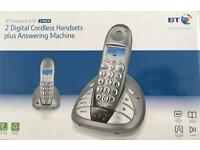 BT FREESTYLE 650 2 PACK DIGITAL CORDLESS HANDSETS PLUS ANSWERING MACHINE