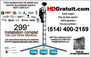 ANTENNE DE TELEVISION  Montreal 514 400-2159 SERVICE 24/7
