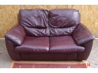Two Seater Leather Sofa. Can Deliver.