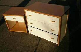 Chest if drawers and bedside cabinet bundle