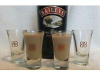 6 x Brand New Boxed Baileys Irish Cream Glasses