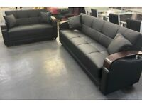 Brand New Leather sofa Beds Available In 3+2 Seater Order Now Fast