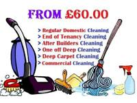 Guaranteed End of Tenancy / Move in / Out / Deep clean / Carpet shampoo wash