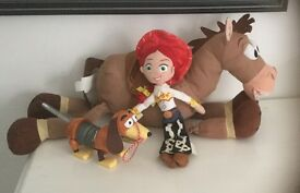 Toy Story Bundle Large Bullseye Horse Soft toy, Jessie doll and Slinky