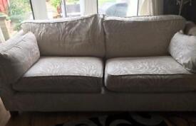 Cream sofa &chair