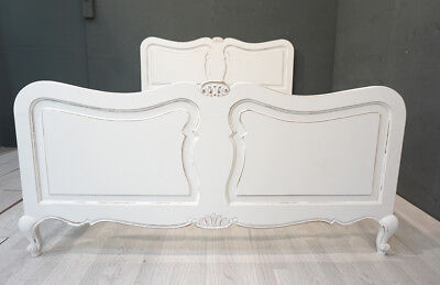 Vintage French Double Bed / Painted French Double Bed (BR371)