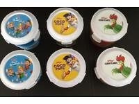 Brand New Set of Six On The Go Kelloggs Cereal Pots