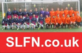 slTeams looking for players, Sunday morning 11 aside football team recruiting; 2h3