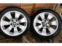 Original BMW e91 BBS full set alloys 17 X 8 with almost new 225 45 17 runflats
