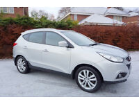 Hyundai iX35 2.0 CRDi Premium Four Wheel Drive. Speed Silver - 2011/61. Low Mileage.