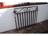 Wrought Iron Gate 3ft x 3ft (95cm x 92cm) - Garden / Driveway Antique Reclaimed